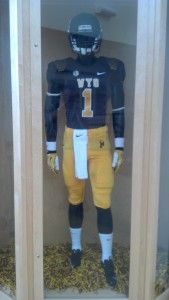Here is Wyoming's uniform combination for its home-opener against Idaho on Saturday, Sept. 7. Photo by Robert Gagliardi/WyoSports