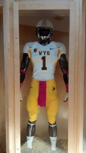 The University of Wyoming's uniform combination for Saturday's game at San Jose State. Photo by Robert Gagliardi/WyoSports staff
