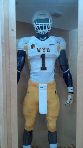 Wyoming's uniform combination for Saturday's game at Boise State. Photo by Robert Gagliardi/WyoSports