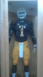 Here is Wyoming's uniform combination for its home finale Saturday against Hawaii. Photo by Robert Gagliardi/WyoSports