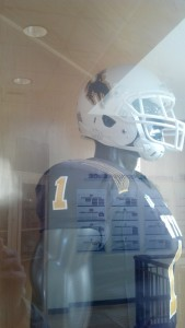 Wyoming's helmet for its home finale against Hawaii Saturday. Photo by Robert Gagliardi/WyoSports